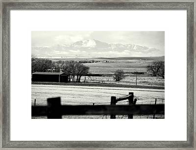 Pikes Peak From Ramah Framed Print