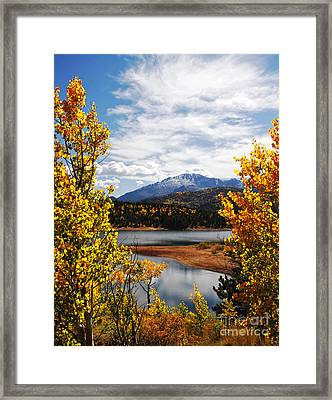 Pikes Peak In Autumn Framed Print