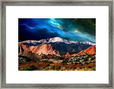Pikes Peak Feelin' It... Framed Print by John Hoffman