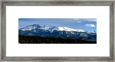 Pikes Peak Panorama Framed Print