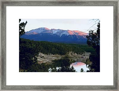 Pikes Peak Sunset Framed Print