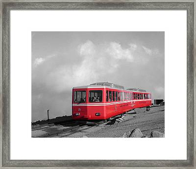 Pikes Peak Train Framed Print by Shane Bechler