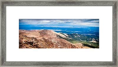 Pikes Peak Vista Framed Print