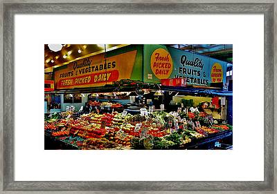 Pikes Produce Framed Print by Benjamin Yeager