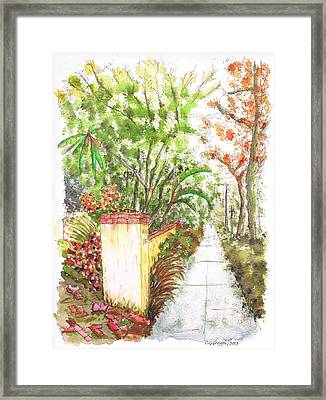 Pilar And Trees In West Hollywood - California Framed Print
