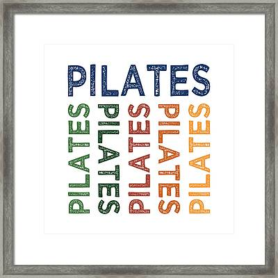 Pilates Cute Colorful Framed Print