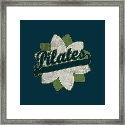 Pilates Flower Framed Print by Flo Karp