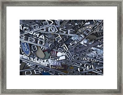 Pile Of Badges 1 Framed Print