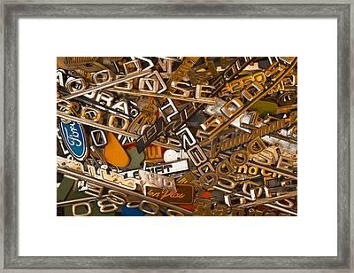 Pile Of Badges 3 Framed Print