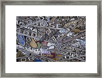 Pile Of Badges 4 Framed Print