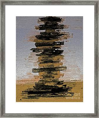Pile Of Books Framed Print by Christiane Schulze Art And Photography