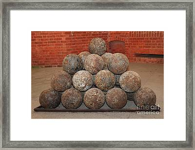 Pile Of Cannon At San Francisco Fort Point 5d21493 Framed Print by Wingsdomain Art and Photography
