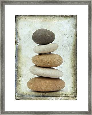 Pile Of Pebbles Framed Print
