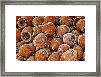 Terracotta Pots Framed Print by Rene Schuiling