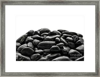 Pile Of Stones Framed Print by Olivier Le Queinec