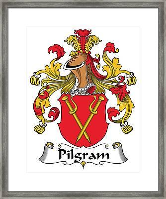 Pilgram Coat Of Arms German Framed Print