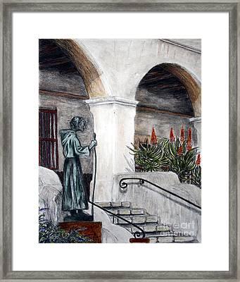 Pilgrim From The Past Framed Print by Danuta Bennett