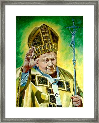Framed Print featuring the painting Pilgrim by Henryk Gorecki