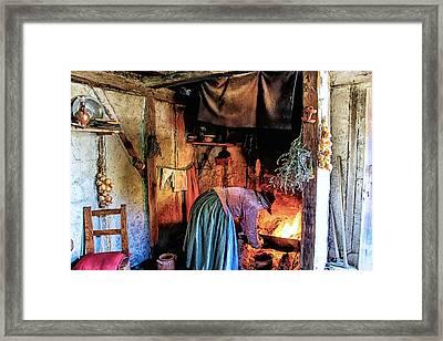 Pilgrim Ladies Kitchen Amenities Framed Print by Constantine Gregory