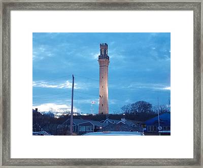 Pilgrim Tower Framed Print