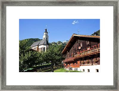 Pilgrimage Church Maria Schnee Framed Print by Martin Zwick