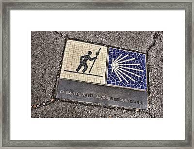 Pilgrimage Route Marker Framed Print by Olivier Le Queinec