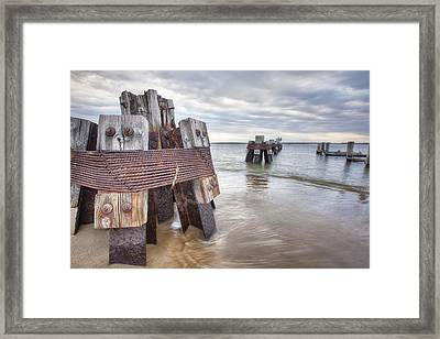 Pilings Framed Print by Eric Gendron