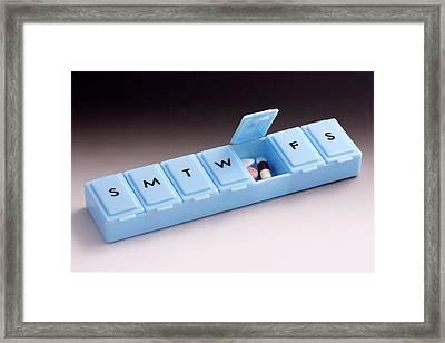 Pill Box Organiser Framed Print by Sheila Terry