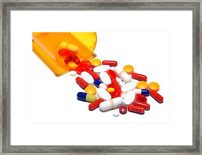Pill Cocktail    Framed Print by Olivier Le Queinec