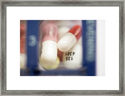 Pill Organiser Framed Print
