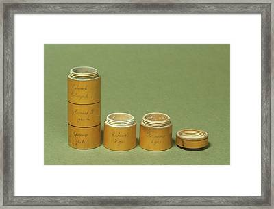 Pill Tower Framed Print