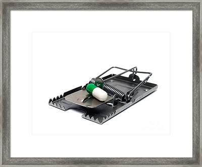 Pill Trap Framed Print