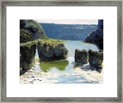 Pillar Falls Framed Print