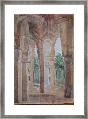 Pillar Of Faith Framed Print