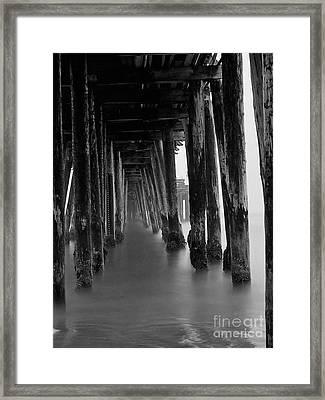 Pillars And Fog 2 Framed Print by Paul Topp
