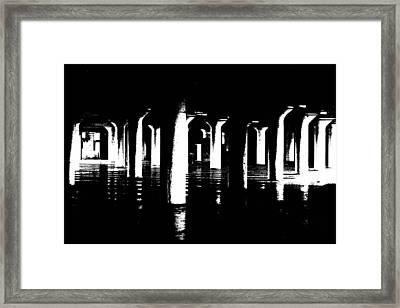 Pillars And Hardwoods Framed Print
