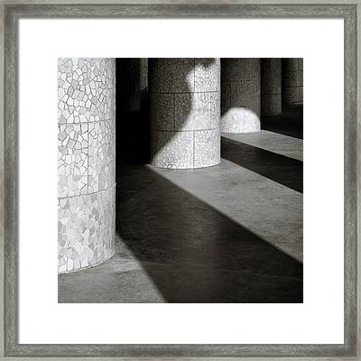 Pillars And Shadow Framed Print by Dave Bowman