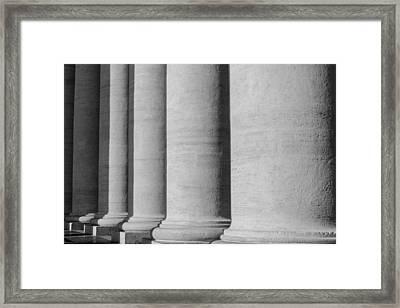 Pillars At The Vatican Framed Print