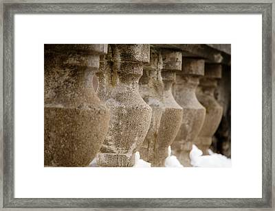 Framed Print featuring the photograph Pillars by Courtney Webster