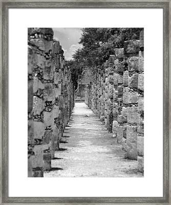 Framed Print featuring the digital art Pillars In A Row by Kirt Tisdale