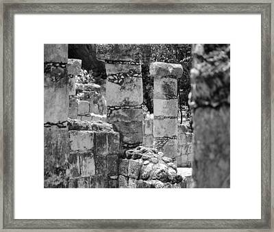 Framed Print featuring the photograph Pillars In Disarray by Kirt Tisdale