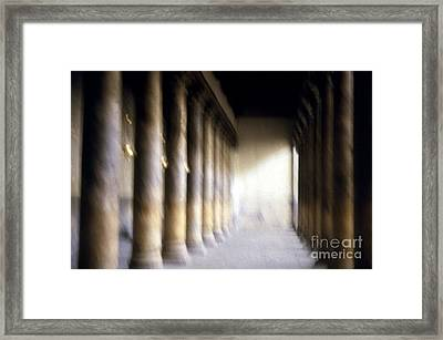 Pillars In Israel Framed Print by Scott Shaw