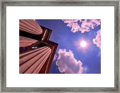 Pillars In The Sun Framed Print by Matt Harang