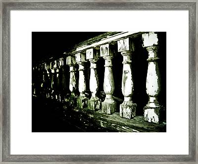 Pillars Framed Print by Jessica Brawley
