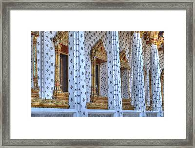 Pillars Framed Print by Michelle Meenawong