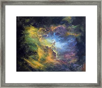 Pillars Of Creation Framed Print by Marie Green