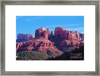 Pillars Of Greatness Framed Print