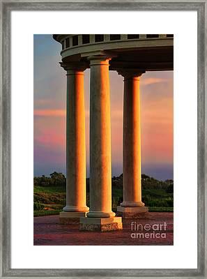 Pillars Of Life Framed Print by Kasia Bitner