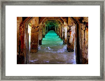 Pillars Of Time Framed Print by Karen Wiles