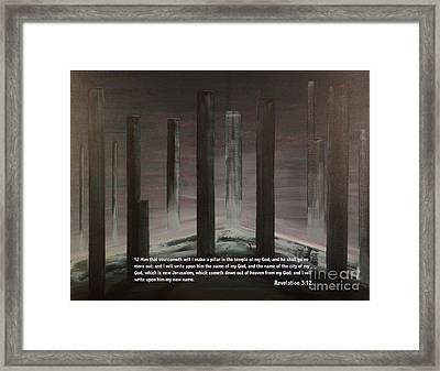 Pillars Framed Print by Wayne Cantrell